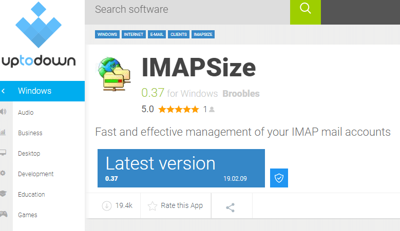 Ende-webdesign Imapsize tutorial